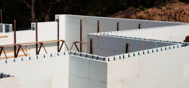 Building with expanded polystyrene for Foam concrete forms for pools