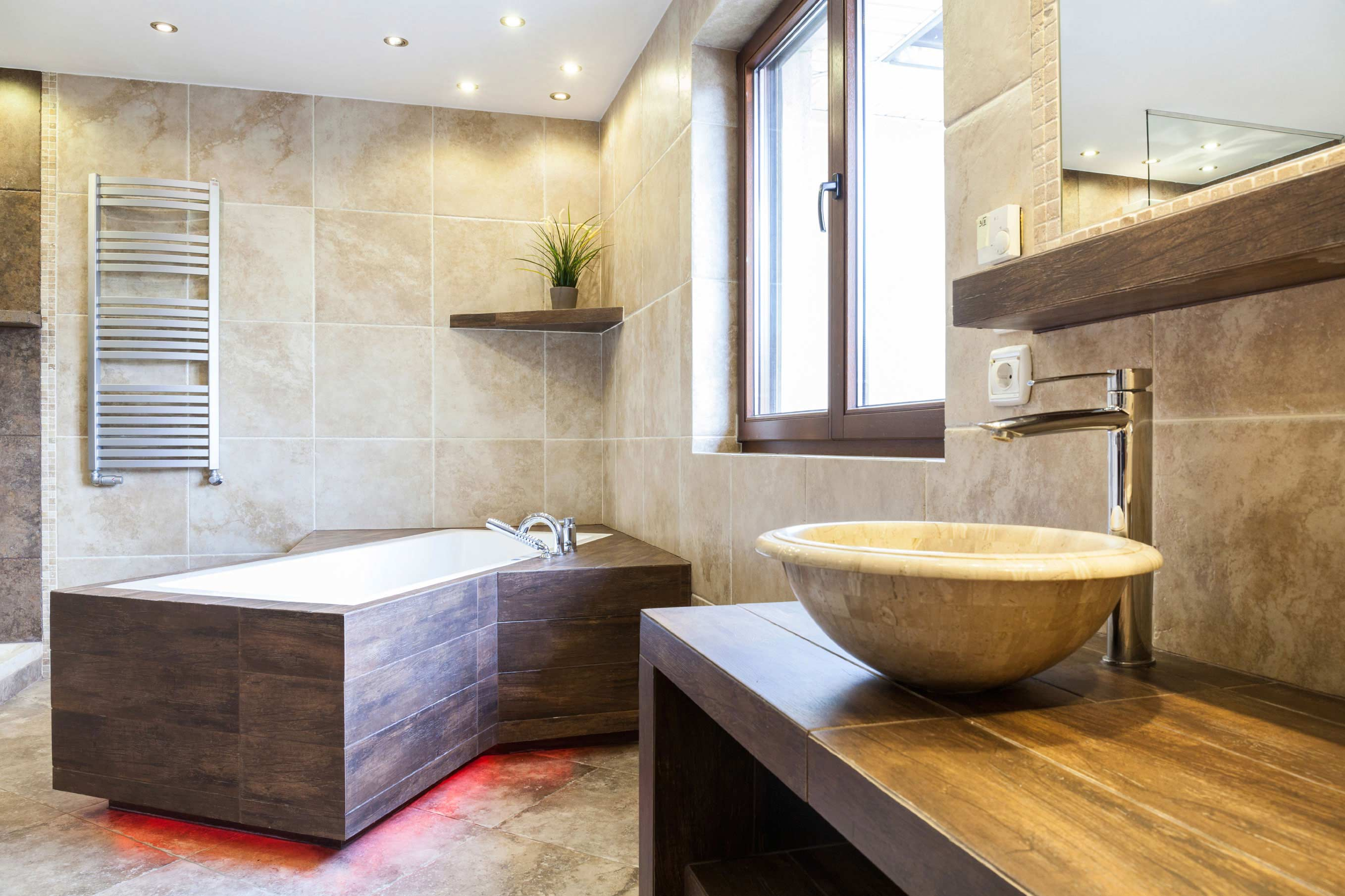 Who has their own bath-built or hired builders 19