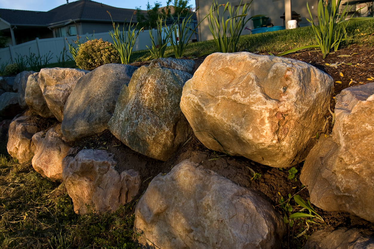 Boulder Retaining Wall Ideas And Inspiration Hipages