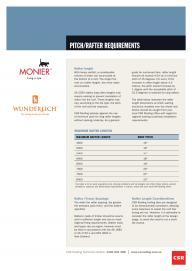 Pitch Rafter Requirements