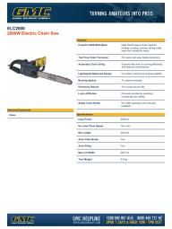 ELC2000 Electric Chain Saw