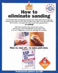 How to eliminate sanding
