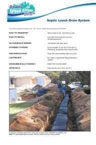 Leach Drain System Leaflet