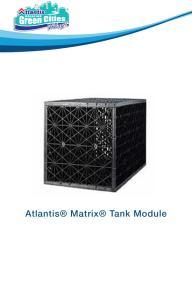 Atlantis� Matrix� Tank Module