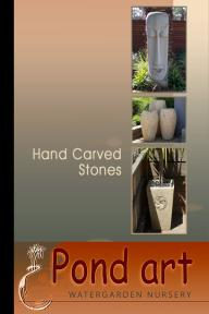 Pond Art - Hand Carved Stones