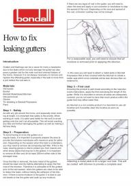 Fixing leaking gutters