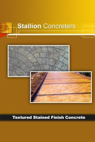 Textured Stained Finish Concrete