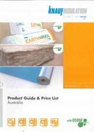 Knauf Insulation Product Guide & Price List