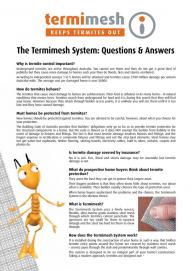 The Termimesh System Questions & Answers
