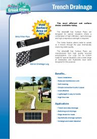 Atlantis� Sub Surface Trench Drainage Pipes
