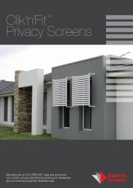 Clik�n�Fit� Privacy Screens