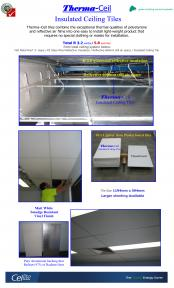 Therma-Ceil Insulated Ceiling Tiles.
