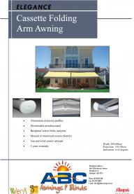 Cassette Folding Arm Awning