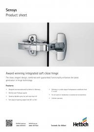 Sensys Hinges Features and Benefits