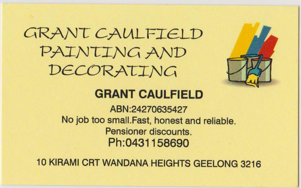 Grant Caulfield Painting Decorating Belmont Grant