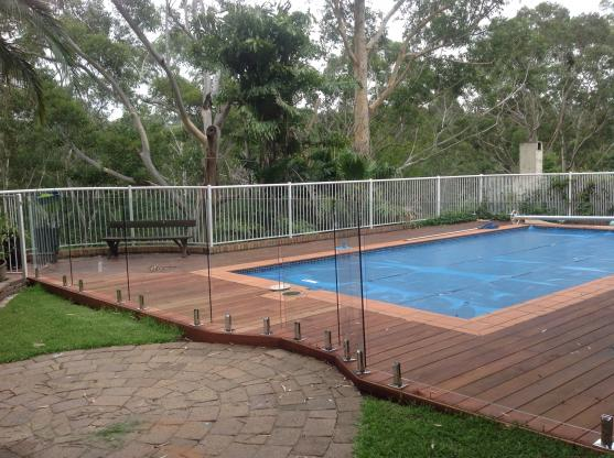 Pool Decking Design Ideas by Glass with Class Australia