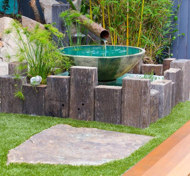 Water features inspiration the small garden australia for Garden features australia