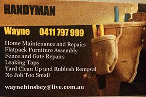 Wayne's Handyman Services Business Card - Galleries - Wayne The ...