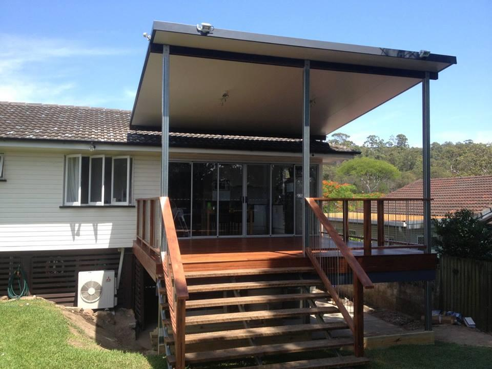 Deck with Flyover Roof