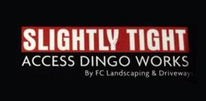 SLIGHTLY TIGHT ACCESS DINGO WORKS logo