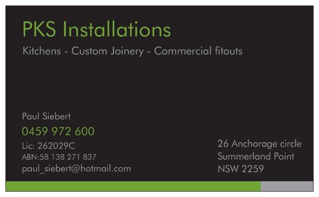 pks joinery installations hamlyn terrace paul siebert 2 recommendations. Black Bedroom Furniture Sets. Home Design Ideas