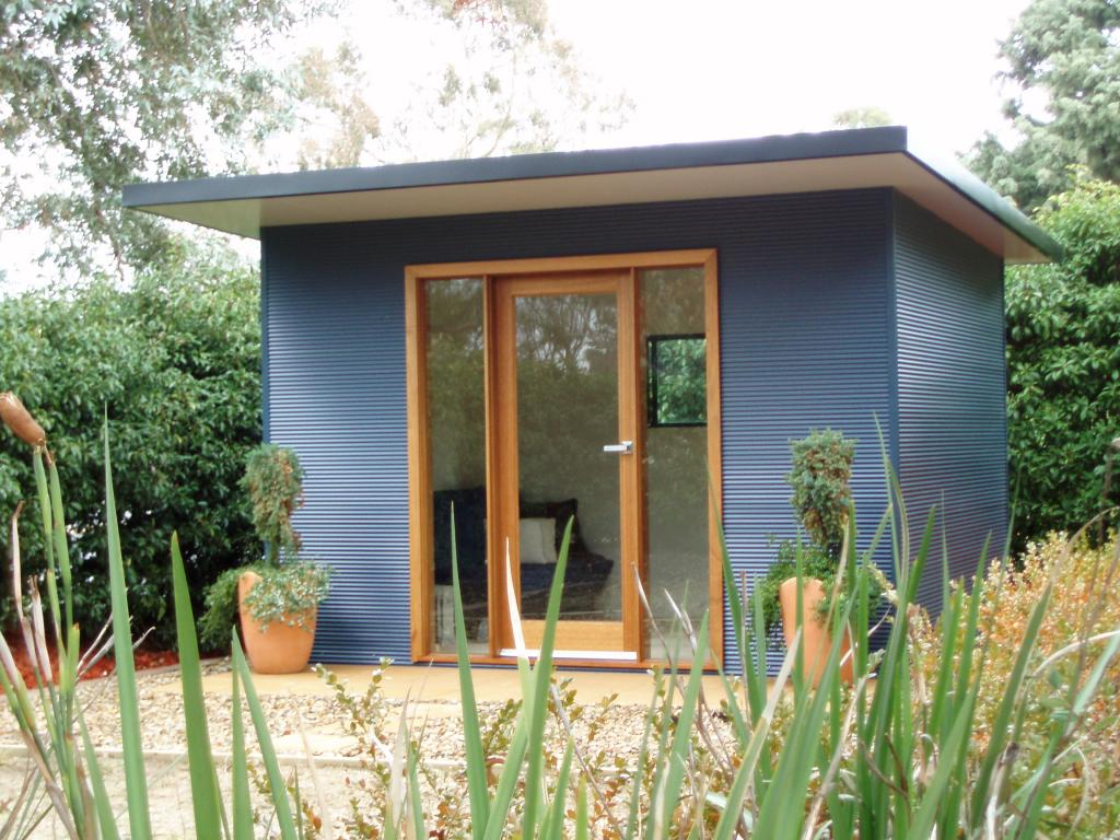 Sheds inspiration ideal studio sheds australia for Cheap garden office buildings