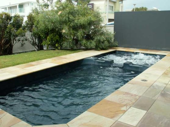 Spa design ideas get inspired by photos of spas from for Swimming pool spa designs