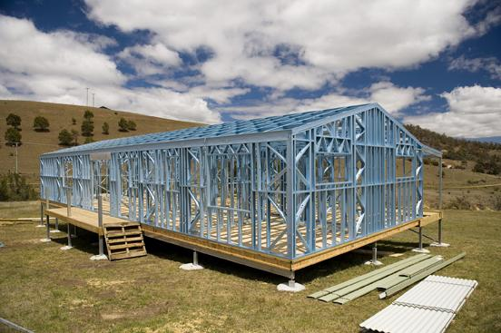 Steel house frames sorell kings meadows launceston Steel frame homes