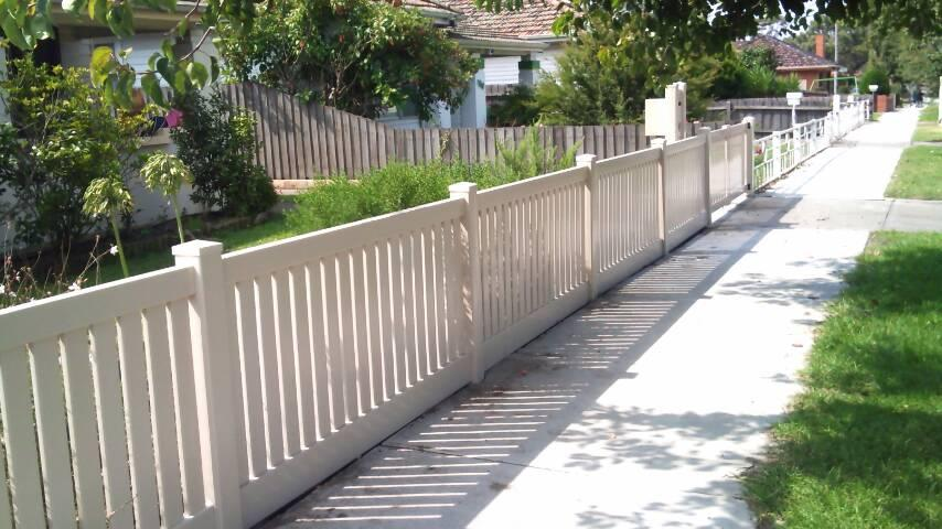 Style Ideas Capped Picket Fencing Mathos Pvc Fencing