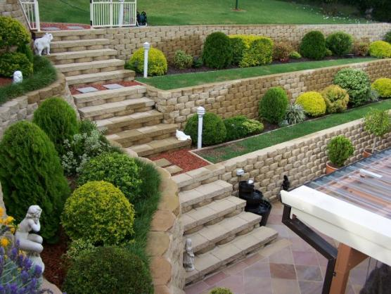 Retaining wall design ideas get inspired by photos of for Block wall landscape design