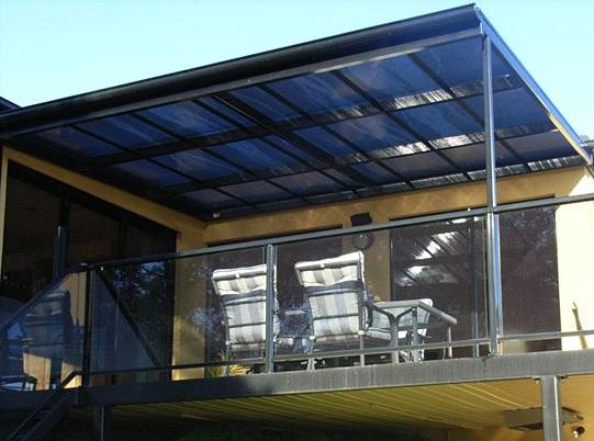 Flat roof galleries optimo awnings for Roof awning design