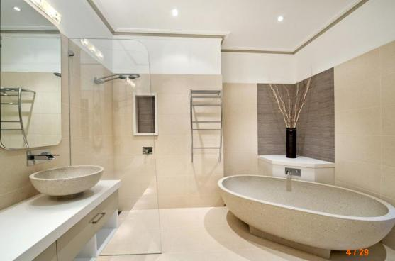 Freestanding bath design ideas get inspired by photos of for Australian small bathroom design