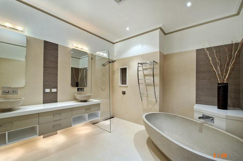 Main Bathroom Designs 7 tags modern master bathroom with handheld shower head salt white extra marble super white marble Browse Photos From Australian Designers Trade Professionals