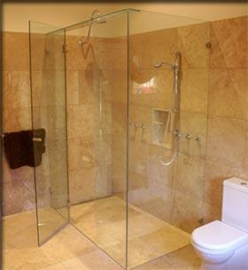 Frameless Shower Screen Designs by A1 Shower Screens