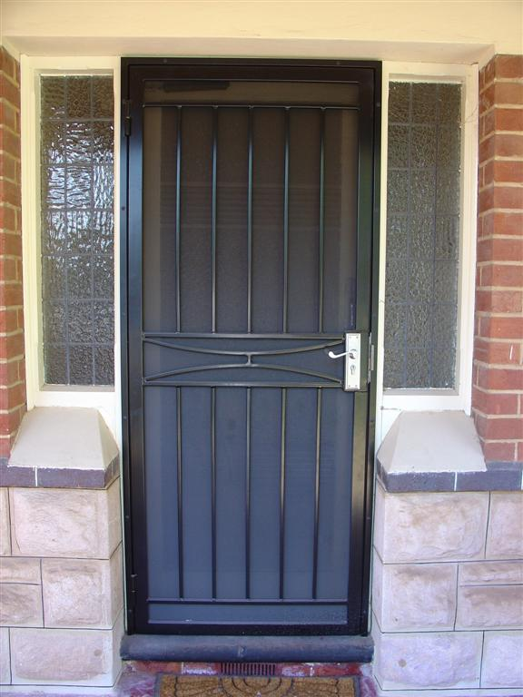 Aluminium wrought iron security doors wingfield hindmarsh fencing wrought iron security - White security screen door ...