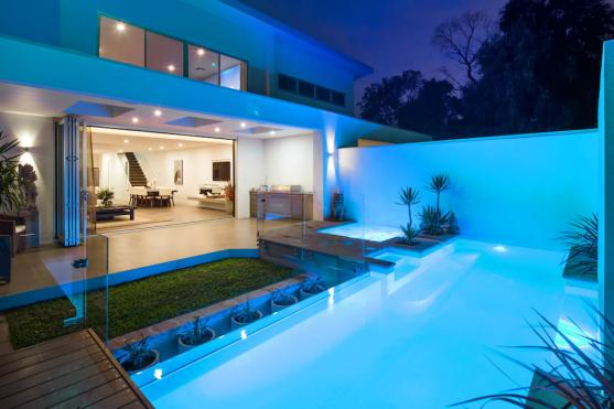 Pool Lights Ideas by Platinum Fine Homes & Additions