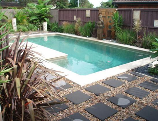 Pool design ideas get inspired by photos of pools from for Above ground pool landscaping ideas australia