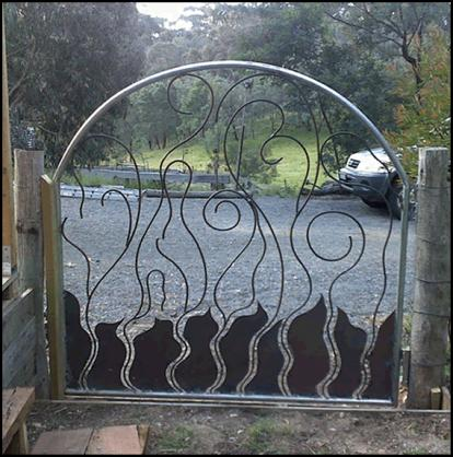Pictures of Gates by Overwrought Garden Art