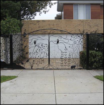 Driveway Gate Designs by Overwrought Garden Art