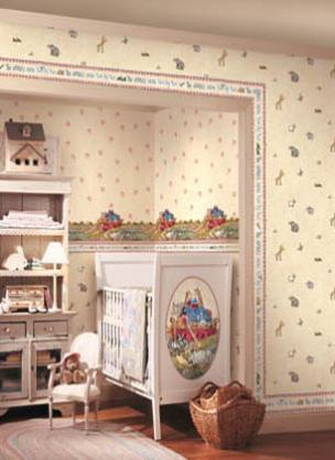 Baby Nursery Ideas by Direct Decorators Wallpaper & Curtains