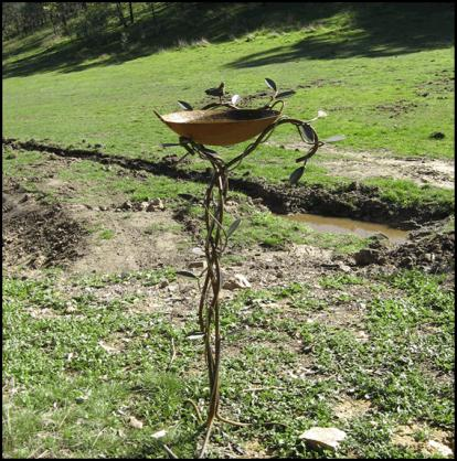 Bird Bath Design Ideas by Overwrought Garden Art