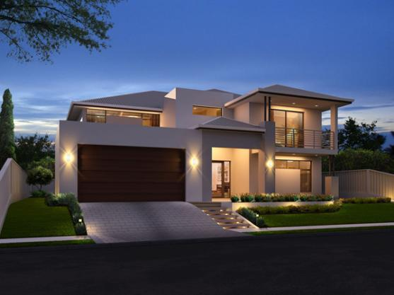 House exterior design by the design mill