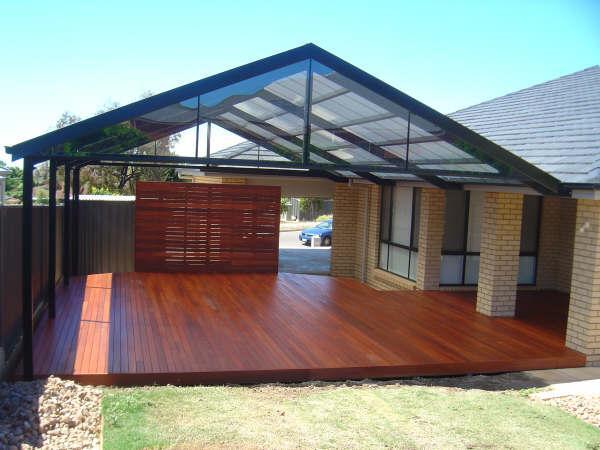 Style ideas timber decks verandahs patios gable for Timber home designs australia