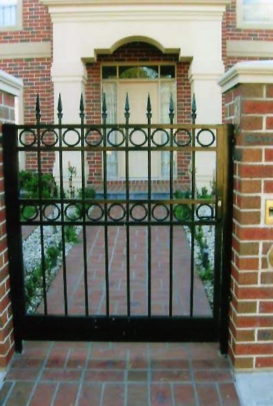 Security screen doors wrought iron security screen doors for Wrought iron security doors