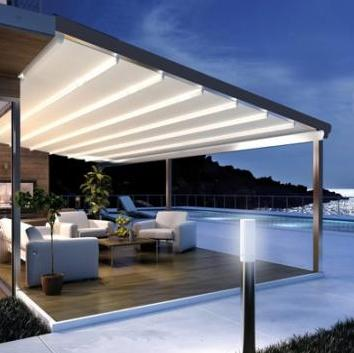 Pergola Sliding Shade - Popular Home Designs