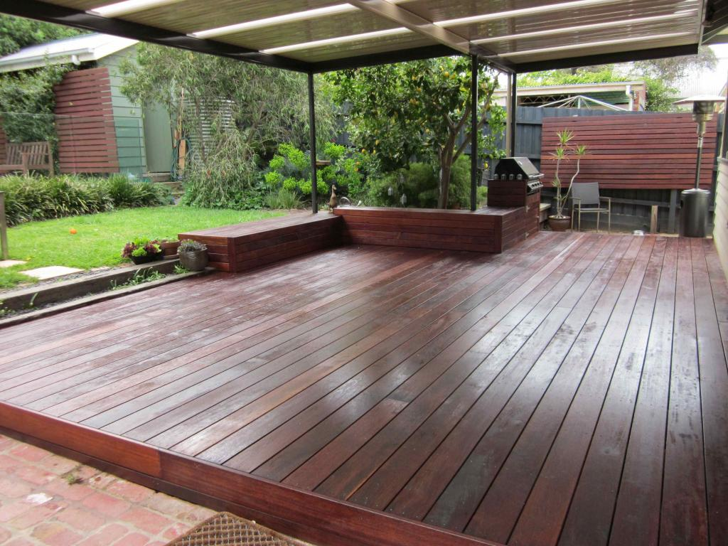 Timber decks inspiration deck it out decks pergolas for Garden decking designs pictures