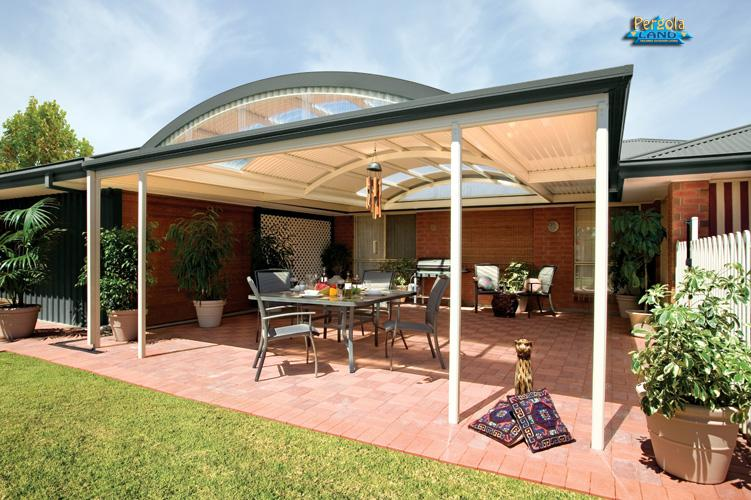 Pergolas Colorbond Curved Roof Galleries Pergola