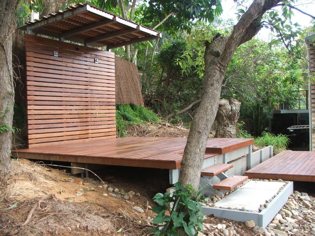 Timber decks inspiration qc landscaping australia for Garden decking inspiration