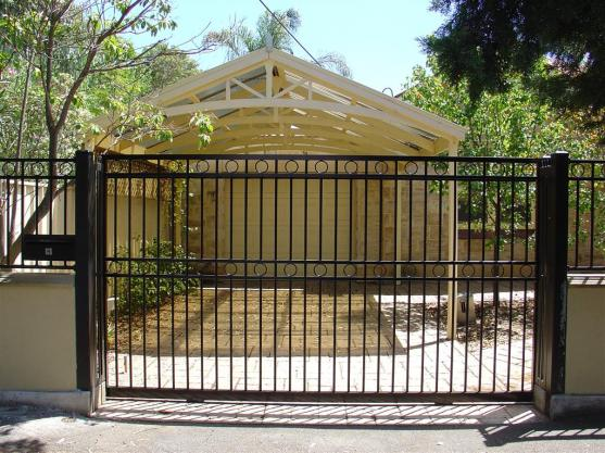 Driveway Gate Designs by Hindmarsh Fencing & Wrought Iron Security Doors