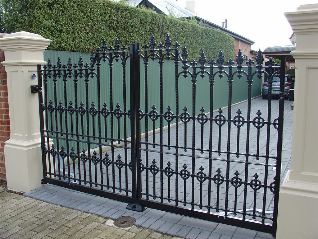 Hindmarsh fencing wrought iron security doors adelaide - Puertas metalicas jardin ...